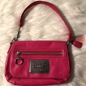 Coach Poppy Pink Patent Leather Bag